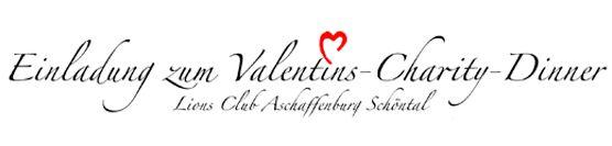 Einladung Valentins-Charity-Dinner