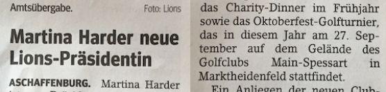 Martina Harder neue Lions Präsidentin
