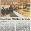 Lions-Charity-Dinner: 5000 Euro für Johannes-de-la-Salle-Schule