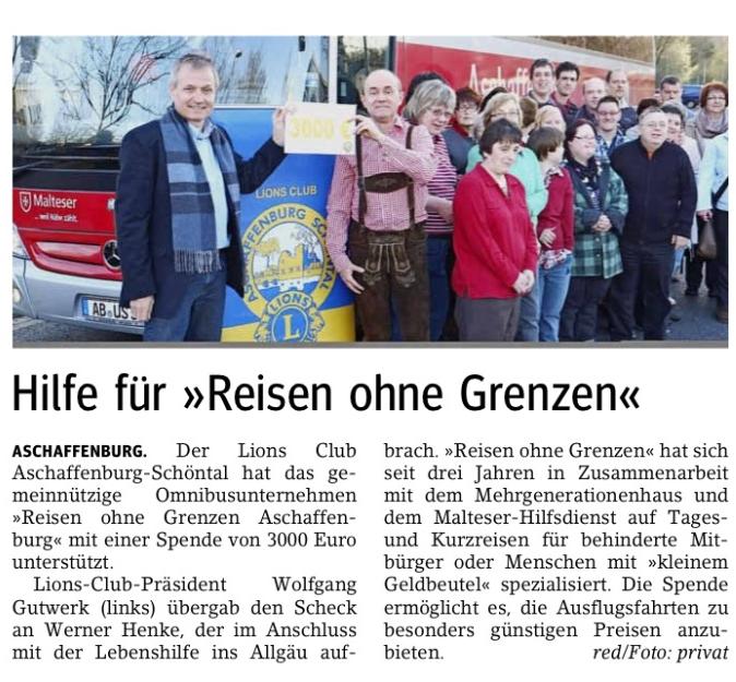 Main Echo vom 18 04 2013 | Lions Aschaffenburg Schöntal